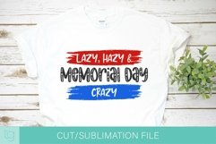 Memorial Day Crazy SVG DXF Cut and Sublimation File Product Image 1