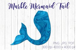 Marble Mermaid tail clipart PNG, Fish tail PNG Product Image 1