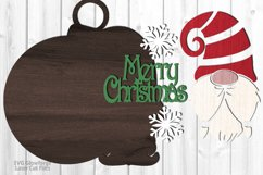 Merry Christmas Gnome Ornament SVG Glowforge Laser Files Product Image 2