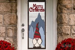 Merry Christmas Gnome Sign SVG Glowforge Laser Files Product Image 4