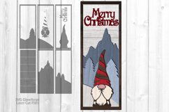 Merry Christmas Gnome Sign SVG Glowforge Laser Files Product Image 3