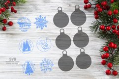 Christmas Ornament SVG Glowforge Laser Files Bundle Product Image 2