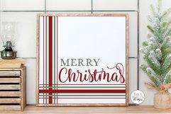 Merry Christmas Plaid SVG | Farmhouse Design Product Image 1