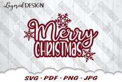 Snowflake Merry Christmas SVG Files For Cricut Product Image 3