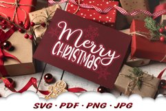 Snowflake Merry Christmas SVG Files For Cricut Product Image 5