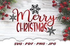 Snowflake Merry Christmas SVG Files For Cricut Product Image 1