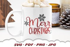 Snowflake Merry Christmas SVG Files For Cricut Product Image 4