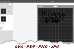 Snowflake Merry Christmas SVG Files For Cricut Product Image 2