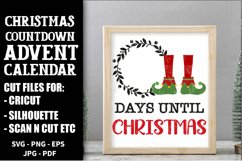 Christmas Countdown, Advent Calendar SVGs, Xmas countdown Product Image 3