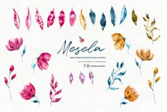 Boho Watercolor WildFlowers Clipart  Drawberry CP069 Product Image 2