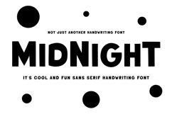 Midnight | Handwriting Sans Serif Product Image 1