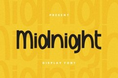 Web Font Midnight Font Product Image 1