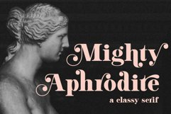 Mighty Aphrodite // A Classy & Modern Serif Product Image 1