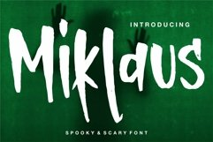Web Font Miklaus - Body & Scary Font Product Image 1