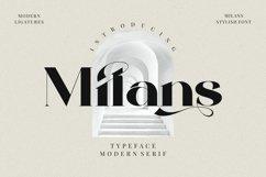 Milans_Typeface Modern Serif Product Image 1