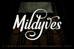 Web Font Mildyves - Handcrafted Calligraphic Font Product Image 1