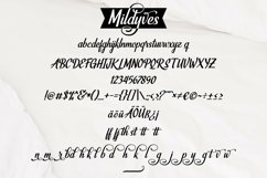 Web Font Mildyves - Handcrafted Calligraphic Font Product Image 4