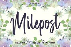 Web Font Milepost - Beautiful Handwritten Font Product Image 1