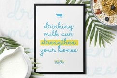 Web Font Milk Favorites Font Product Image 3