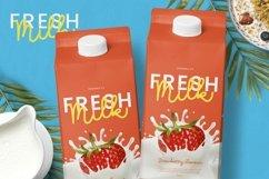Web Font Milk Favorites Font Product Image 2