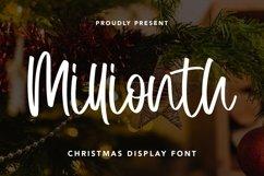 Web Font Millionth - Christmas Display Font Product Image 3