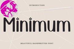 Minimum - Beautiful Handwritten Font Product Image 1