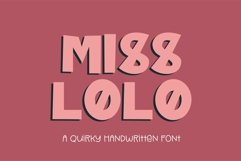Web Font Miss Lolo - a quirky handwritten font Product Image 1