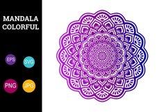 Mandala Colorful Flower Sublimation Design SVG PNG JPG EPS Product Image 1