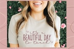 It's a beautiful day to teach svg, Teacher shirt svg, teach Product Image 1
