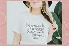 Empowered Teachers Empower Students, SVG for teacher, Product Image 3