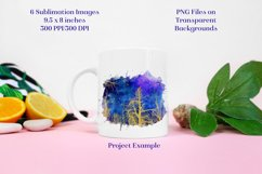 Sublimation PNG Designs - Golden Celestial Forest Product Image 2
