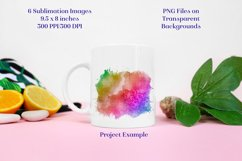 Sublimation PNG Designs - Rainbow Painted and Patterned Product Image 2