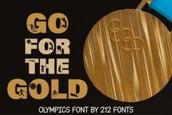 212 Olympics Display Font Sports Alphabet and Dingbat OTF Product Image 6