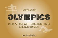 212 Olympics Display Font Sports Alphabet and Dingbat OTF Product Image 1