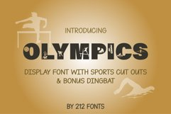 212 Olympics Display Font Sports Alphabet and Dingbat OTF Product Image 5