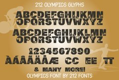 212 Olympics Display Font Sports Alphabet and Dingbat OTF Product Image 2