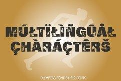 212 Olympics Display Font Sports Alphabet and Dingbat OTF Product Image 3