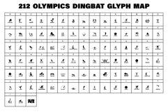 212 Olympics Display Font Sports Alphabet and Dingbat OTF Product Image 4