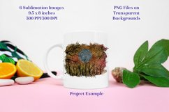 Sublimation PNG Designs - Sunset Forest Glitter Product Image 3