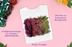 Sublimation PNG Designs - Sunset Forest Glitter Product Image 2