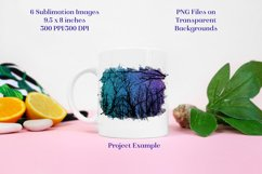 Sublimation PNG Designs - Starry Forest Glitter Product Image 3