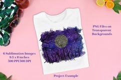 Sublimation PNG Designs - Starry Forest Glitter Product Image 2