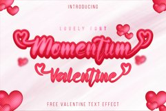 Momentum Valentine - a sweet lovely handwritten font Product Image 1