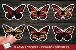 Printable butterfly stickers - monarch