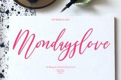 Mondayslove Feminine Signature Font Product Image 1
