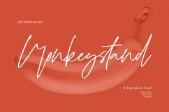 Monkeystand Signature Font Product Image 1