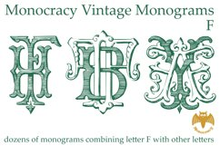 Monocracy Vintage Monograms F Product Image 4