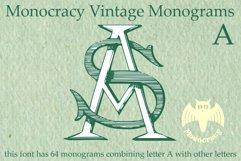 Monocracy Vintage Monograms Pack ABCDEFG Product Image 1