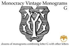 Monocracy Vintage Monograms G Product Image 1