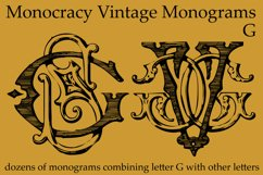 Monocracy Vintage Monograms G Product Image 3